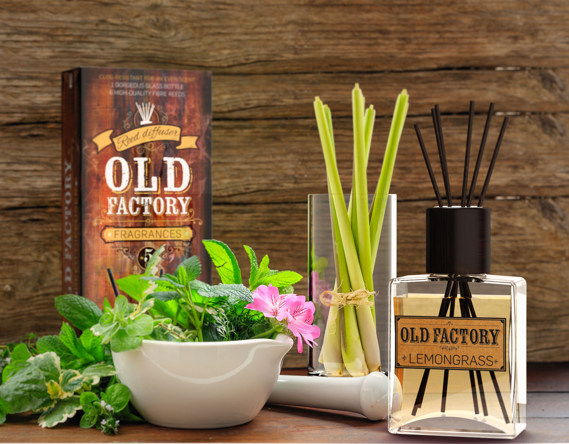 Clear The Air With Old Factory's Lemongrass Reed Diffusers